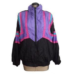 Vintage Toth Gear 80s colorful purple jacket sz L